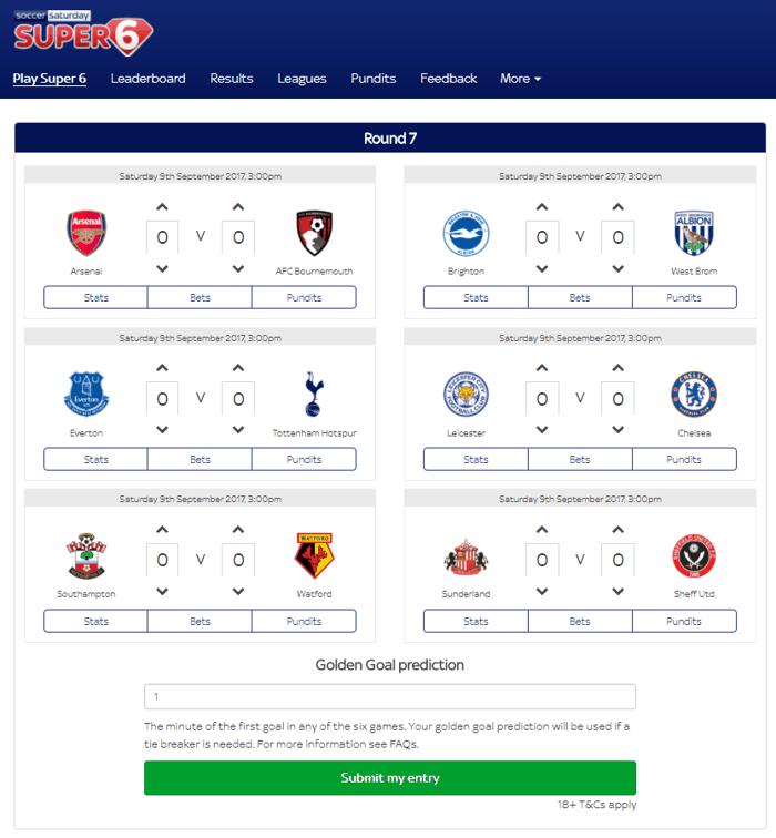 Football Competitions: Free to Enter Footy Prediction Games