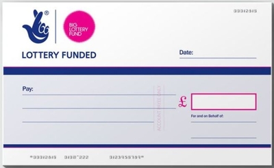 Lottery Charity Cheque
