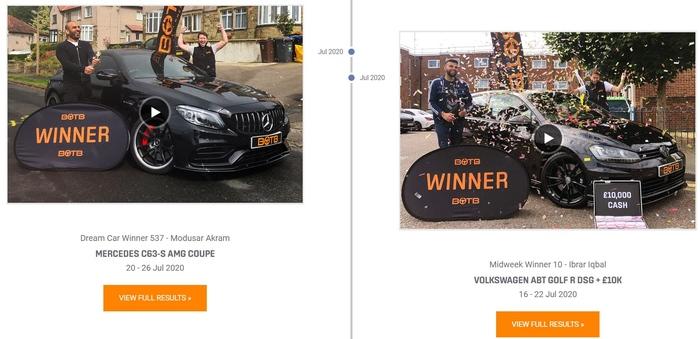 Car Winners