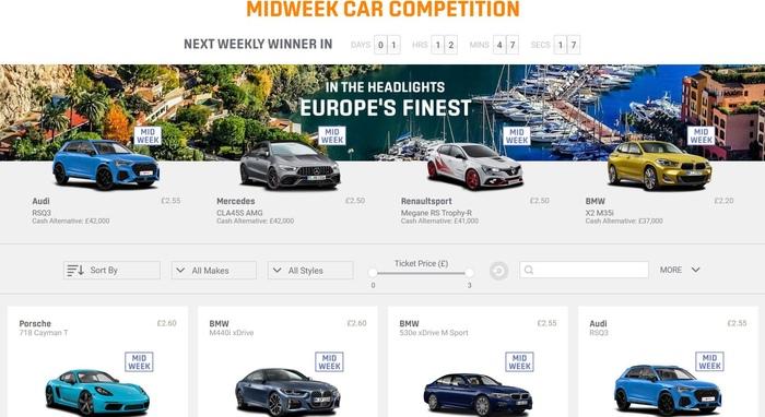 Win a Car Website